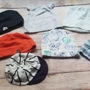 Bundle lot of baby boy hats